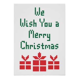 We Wish you a Merry Christmas Poster