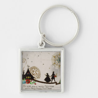 We Wish You a Merry Christmas Silhouette Keychain