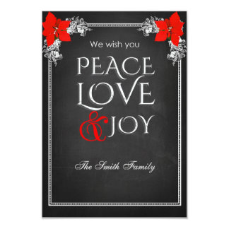 We wish you peace love & joy card