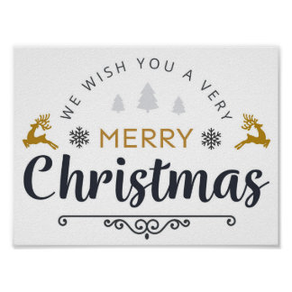 We Wish You the Very Merry Christmas Poster