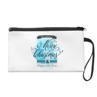 We wish you to Merry Christmas & Happy New Year Wristlet Purses