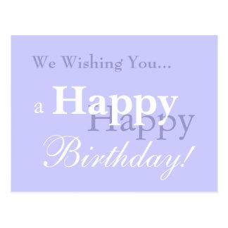 We Wishing You... a Happy Birthday! Postcard