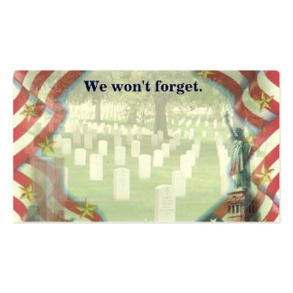 We won't forget Double-Sided standard business cards (Pack of 100)