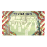We won't forget business card template