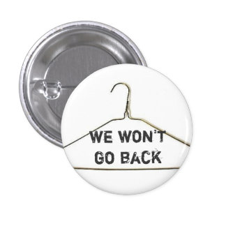 We won't go back button