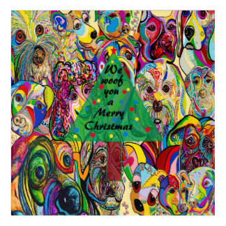 We WOOF You a Merry Christmas Acrylic Wall Art
