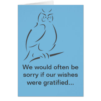 We would often be sorry card