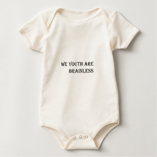 We Youth are Brainless Baby Bodysuit