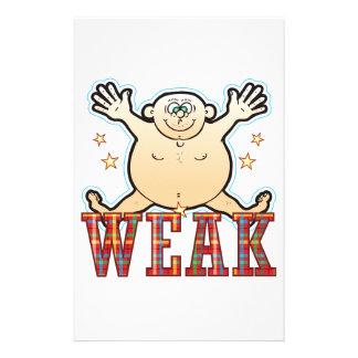 Weak Fat Man Stationery
