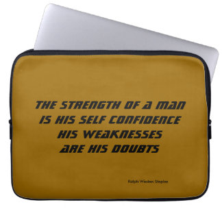 weakness and doubts laptop sleeve