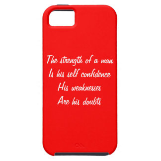 weaknesses and doubts iPhone 5 cover