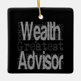 Wealth Advisor Extraordinaire Ceramic Ornament