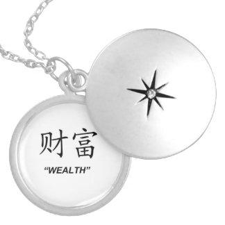 """""""Wealth"""" Chinese symbol matching jewelry set"""