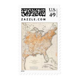 Wealth Distribution, Statistical US Lithograph Postage Stamps