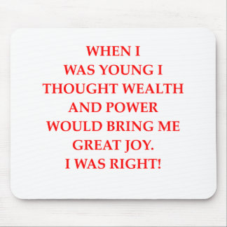 wealth power and happiness mousepad