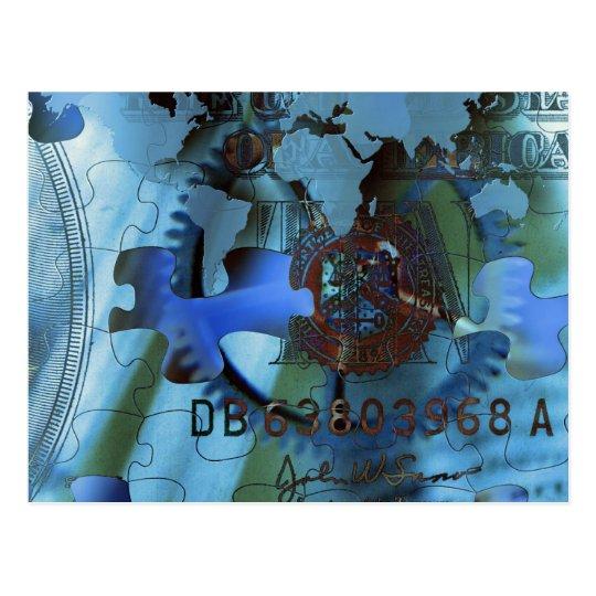 Wealth Puzzle Postcard