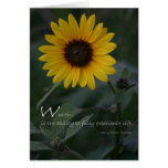 Wealth quote yellow sunflower cards