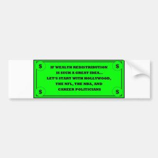 Wealth Redistribution Bumper Sticker