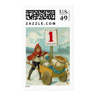 Wealthy New Year Postage Stamp