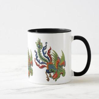 Wealthy Peacock Vintage Chinese Tattoo Mug