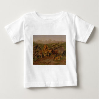 Weaning the Calves by Rosa Bonheur Baby T-Shirt
