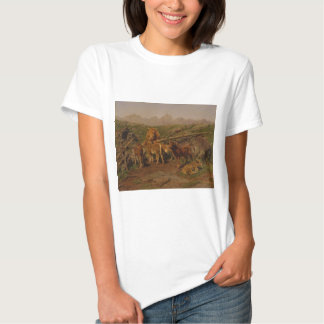 Weaning the Calves by Rosa Bonheur T-shirts