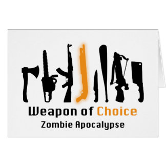 Weapon Of Choice Greeting Cards