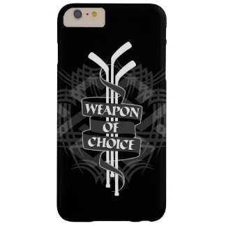 Weapon Of Choice (Hockey) Barely There iPhone 6 Plus Case