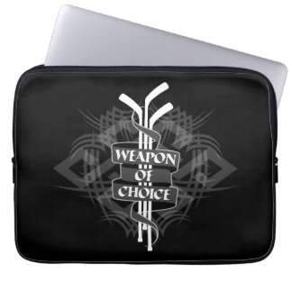 Weapon Of Choice (Hockey) Laptop Computer Sleeves