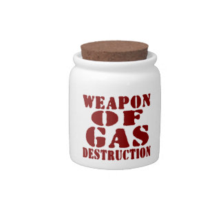 Weapon Of Gas Destruction Candy Dishes