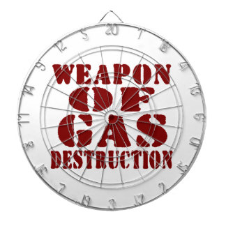 Weapon Of Gas Destruction Dartboard With Darts