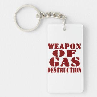 Weapon Of Gas Destruction Double-Sided Rectangular Acrylic Keychain