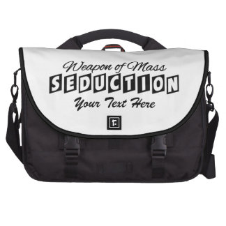 Weapon of Mass Seduction custom laptop bag
