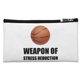Weapon of Stress Reduction Basketball Makeup Bag