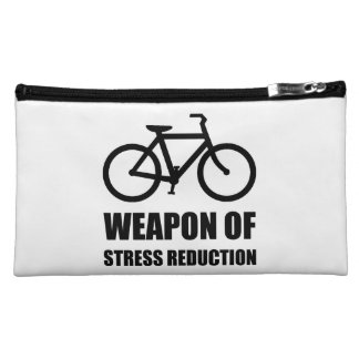 Weapon of Stress Reduction Biking Cosmetic Bag