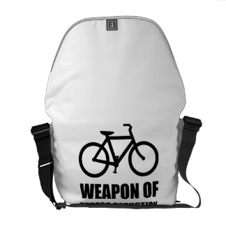 Weapon of Stress Reduction Biking Courier Bag