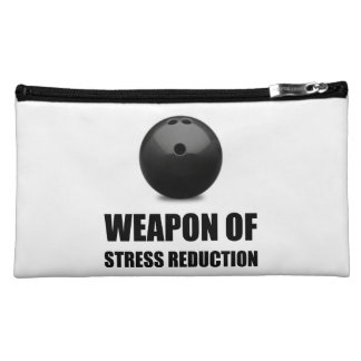 Weapon of Stress Reduction Bowling Makeup Bag