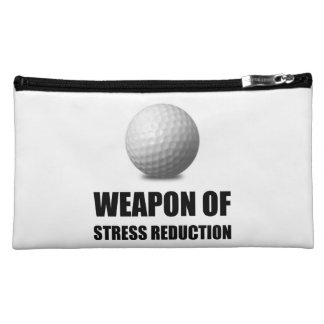 Weapon of Stress Reduction Golf Cosmetic Bag