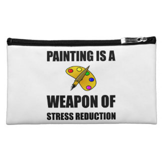 Weapon of Stress Reduction Painting Makeup Bag