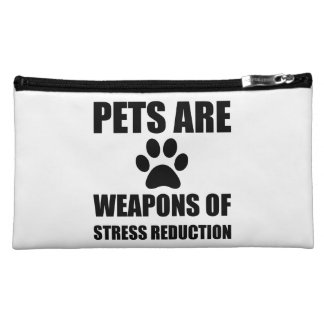 Weapon of Stress Reduction Pets Makeup Bag