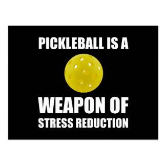 Weapon Of Stress Reduction Pickleballl Postcard