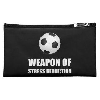 Weapon of Stress Reduction Soccer Cosmetic Bag