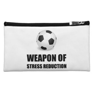 Weapon of Stress Reduction Soccer Makeup Bag