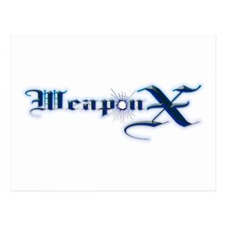 Weapon X Blue Postcard