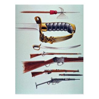 Weapons, 17th century to World War II Postcard