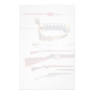 Weapons, 17th century to World War II Stationery Design