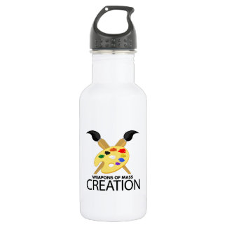 Weapons of mass creation 18oz water bottle