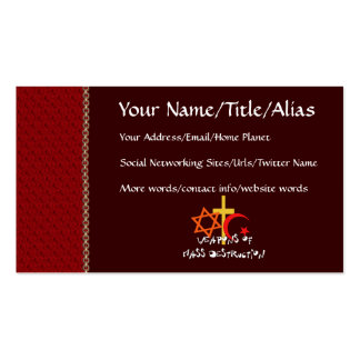 Weapons Of Mass Destruction Double-Sided Standard Business Cards (Pack Of 100)