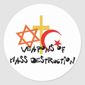 Weapons Of Mass Destruction Classic Round Sticker