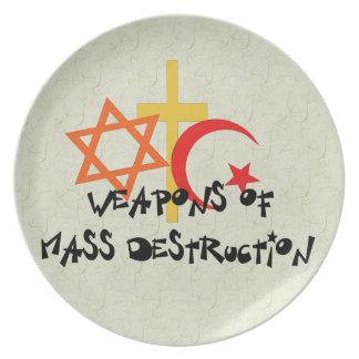 Weapons Of Mass Destruction Dinner Plate